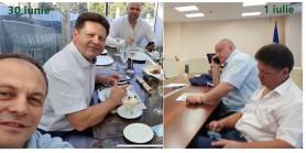 FOTO // Cum arată Ștefan Gațcan la diferența de o zi. Alături de Pro Moldova zâmbește - alături de PSRM supărat