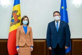 Despre ce a discutat Președintele Maia Sandu cu Peter Michalko, Ambasadorul UE în R. Moldova