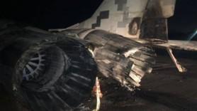 FOTO // Un MiG ucrainean a fost distrus de un ofițer beat care a intrat cu mașina în el