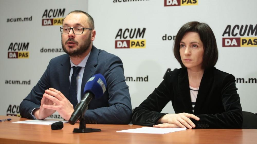 LIVE // Briefing de presă susținut de Lidera Partidului Acțiune și Solidaritate, Maia Sandu și deputatul PAS, Sergiu Litvinenco