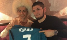 """Khabib Nurmagomedov și Cristiano Ronaldo, surprinși în timpul unui apel video: """"Ar forma o echipă redutabilă"""""""