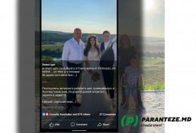 Igor Dodon și-a tăiat soția și copilul dintr-o fotografie postată pe facebook