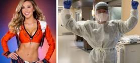 Era majoretă în fotbalul american, dar acum lucrează ca asistentă medicală