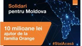 #Solidari pentru Moldova: 10 milioane de lei ajutor din partea familiei ORANGE pentru combatearea COVID-19