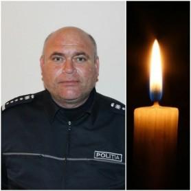 TRIST // Un polițist, tată a cinci copii, a murit